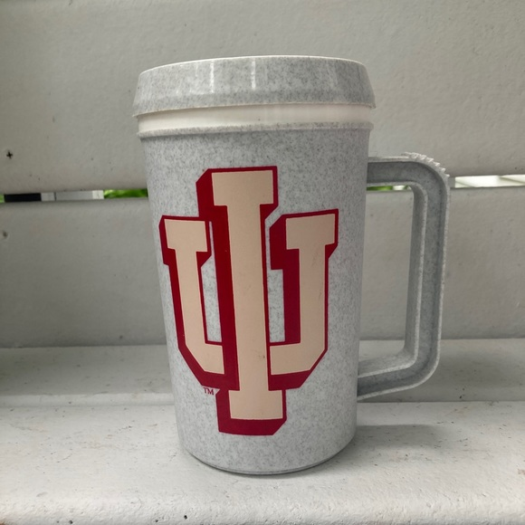 Vintage 90s 2000s Iu Hoosiers Indiana Thermos Mug